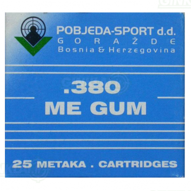 9mm Guminiai šoviniai revolveriui 2
