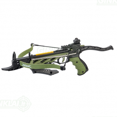 Arbaletas pistoletas Man Kung Alligator Žalias 80lbs