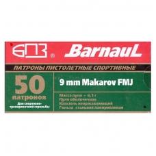 Barnaul 9 mm MAKAROV 9x18 FMJ 6,1 g, 50 vnt.