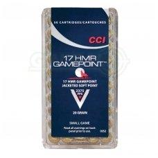CCI 17HMR Gamepoint SP 1,30 g, 50 vnt.