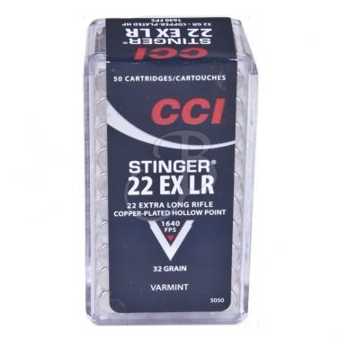 CCI 22LR Stinger 22EX LR 2,07 g, 50 vnt.