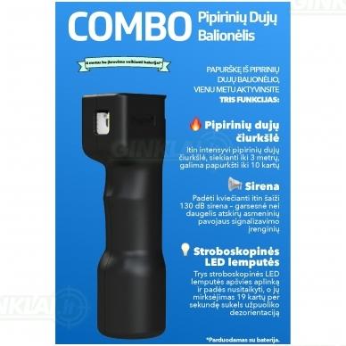 Dujinis balionėlis Plegium Combo juodas 2