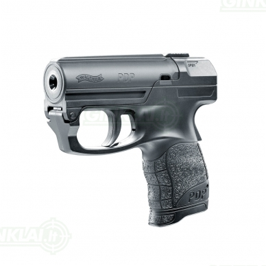 Dujinis pistoletas su įstatomu dujiniu balionėliu Walther PDP 2
