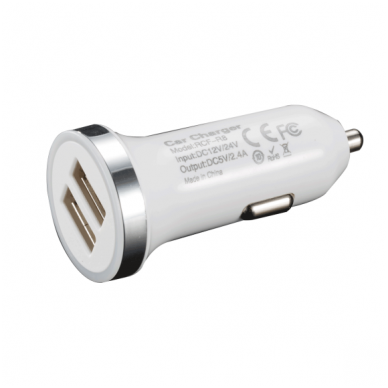 Dviejų jungčių automobilinis USB pakrovėjas