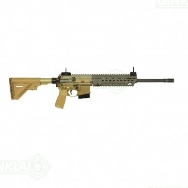 """Graižtvinis šautuvas Heckler Koch MR223A3 16,5"""" RAL8000, .223 Rem."""