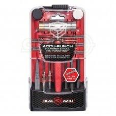 Kaiščių išmušėjai Real Avid Accu-Punch™ Hammer & Roll Pin Punch Set - AVHPS-RP