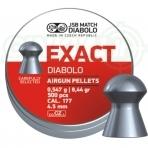Kulkelės JSB EXACT DIABOLO 4,53 mm, 500 vnt.