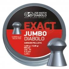 Kulkelės JSB Diabolo JUMBO Exact 5,52 mm 250 vnt.