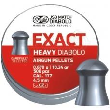 Kulkelės JSB EXACT HEAVY DIABOLO 4,52 mm, 500 vnt.