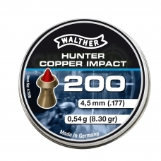 Kulkelės Walther Copper Hunter Impact 4,5 mm, 200 vnt.