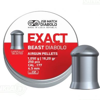 Kulkelės JSB Diabolo EXACT Beast 4,52 mm 250 vnt.