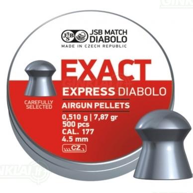 Kulkelės JSB Diabolo EXACT Express 4,52 mm 500 vnt.