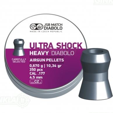 Kulkelės JSB Diabolo Heavy Ultra Shock 4,50 mm 350 vnt.