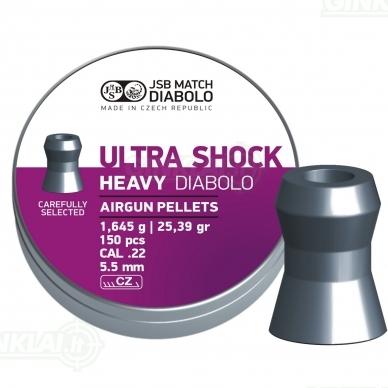 Kulkelės JSB Diabolo Heavy Ultra Shock 5,50 mm 150 vnt.