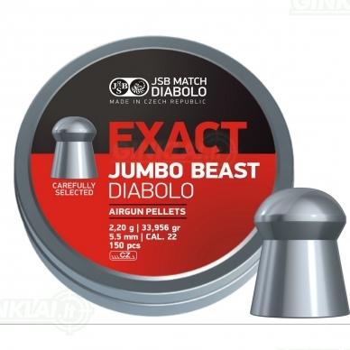 Kulkelės JSB Diabolo JUMBO Exact Beast 5,52 mm 150 vnt.