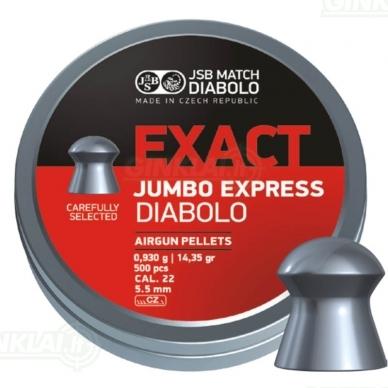 Kulkelės JSB Diabolo JUMBO Exact Express 5,52 mm 250 vnt.