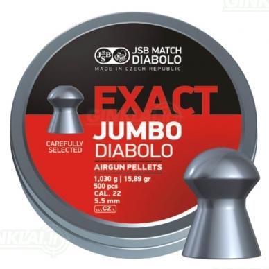 Kulkelės JSB Diabolo JUMBO Exact 5,52 mm 500 vnt.