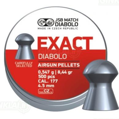 Kulkelės JSB Diabolo EXACT 4,52 mm 500 vnt.