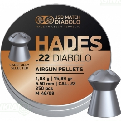 Kulkelės JSB Hades 5,50 mm 250 vnt.