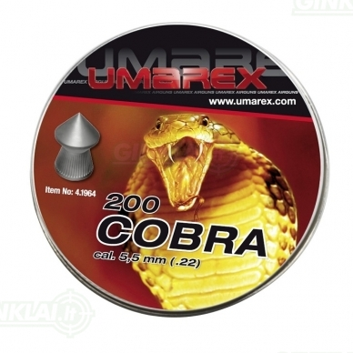 Kulkelės Umarex Cobra 5,5 mm, 200 vnt.
