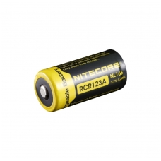 Nitecore NL166 CR123 Li-ion Battery 3.7V 650mAh