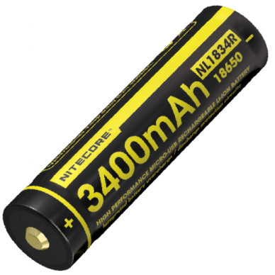 Nitecore NL1834R 18650 Li-ion Battery 3.6V 3400mAh 2