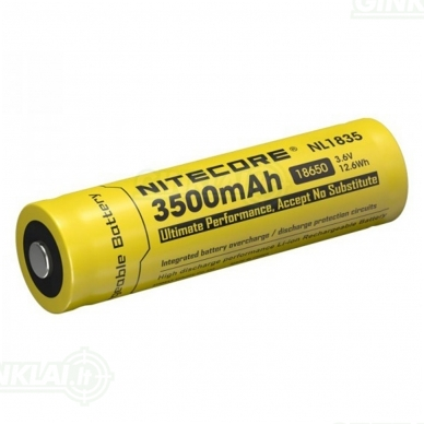 Nitecore NL1835 18650 Li-ion Battery 3.6V 3500mAh