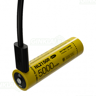 Nitecore NL2150R 21700 Li-ion Battery 3,6V 5000mAh 2