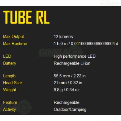 Nitecore prožektorius Tube RL 4