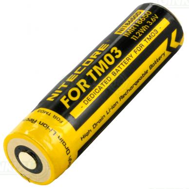 Nitecore TM03 NI18650D Li-ion Battery 3,6V 11,2Wh 2