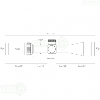 Optinis taikiklis HAWKE 22LR 3-9x40 HV IR 2