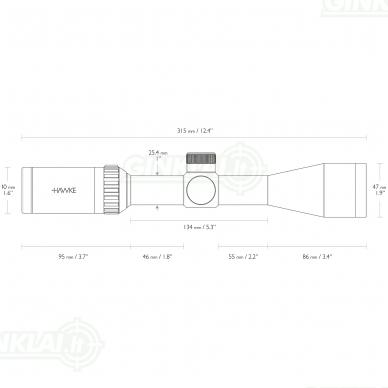 Optinis taikiklis HAWKE 22LR 3-9x40 Subsonic IR 2