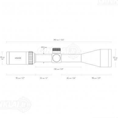 Optinis taikiklis HAWKE 22LR 3-9x50 Subsonic IR 2