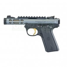 """Pistoletas Ruger MK IV 22/45 Lite Black-Gold 4,4"""", 22LR 43927"""