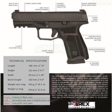 Pistoletas Arex Delta M Gen2, 9x19, Gunsmoke Grey 3