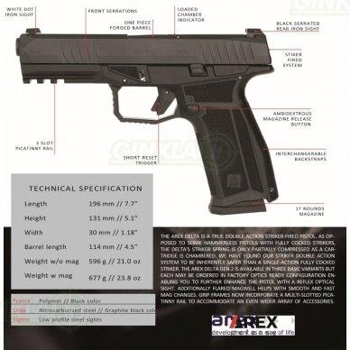 Pistoletas Arex Delta L Gen2, 9x19, Black 2