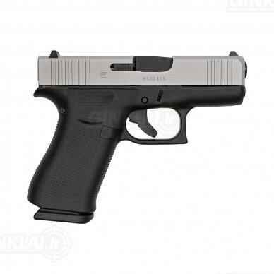 Pistoletas Glock 43X FS Silver Slide, 9x19 2