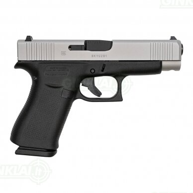 Pistoletas Glock 48 FS Silver Slide, 9x19 2