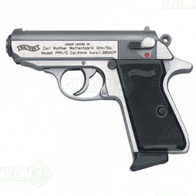 Pistoletas Walther PPK/S Stainless, 9x17