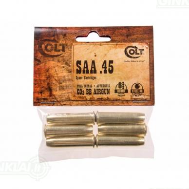 Pneumatinio revolverio užtaisymo gilzės Colt SAA 45 4,5mm Pellet 6 vnt. 2