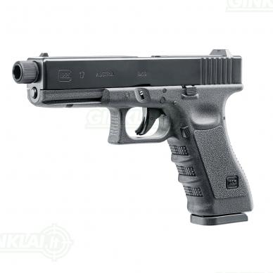 Pneumatinis pistoletas Glock 17 4,5mm Pellet/BBs su sriegiu 2