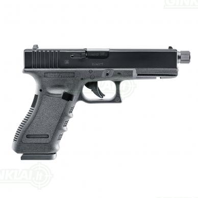 Pneumatinis pistoletas Glock 17 4,5mm Pellet/BBs su sriegiu 3