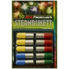 Raketos dujiniams ginklams Sternbukett  4 spalvų, 10 vnt.