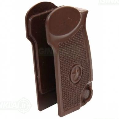 Rankena MP 654 Makarov pneumatiniam pistoletui rudos spalvos