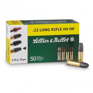 Sellier&Bellot 22LR HV HP 2,45 g, 50 vnt.