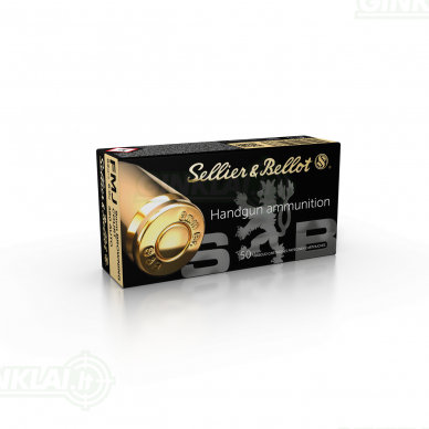 Sellier&Bellot 9 mm Browning Court 9x17 FMJ 6,0 g, 50 vnt.