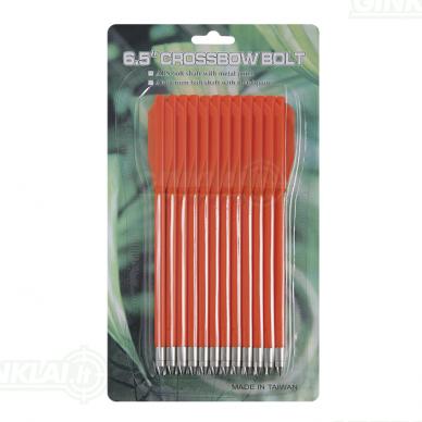 Strėlytės arbaletui plastikinės MK-AL6.5 oranžinės Plastic bolts 12 vnt. 6,5 inch