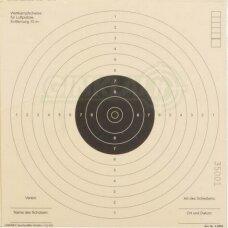Taikiniai pneumatiniam pistoletui ISSF 17x17 cm, 1 vnt.