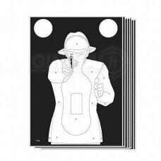 Taikinys TS-9 Shilouette target White 10 vnt.