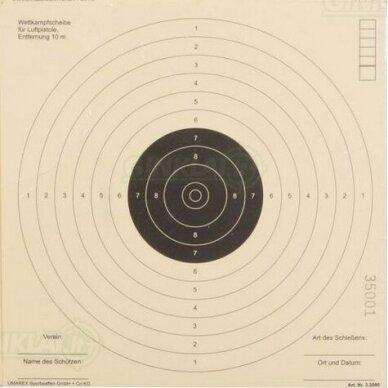 Taikiniai pneumatiniam pistoletui ISSF 17x17 cm, 100 vnt.